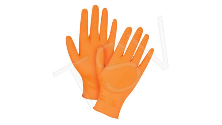 Gants en nitrile orange lourd Ultra Gripper